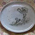 京焼の万年茸絵皿。