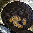 東峰彫の茸絵銘々皿
