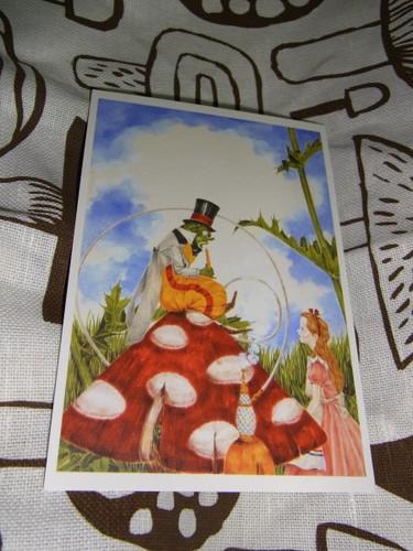 熊田千佳慕の絵本・不思議の国のアリスのポストカード