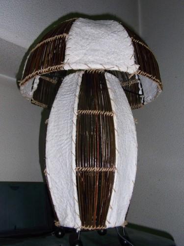 和紙張りキノコランプ(消灯)