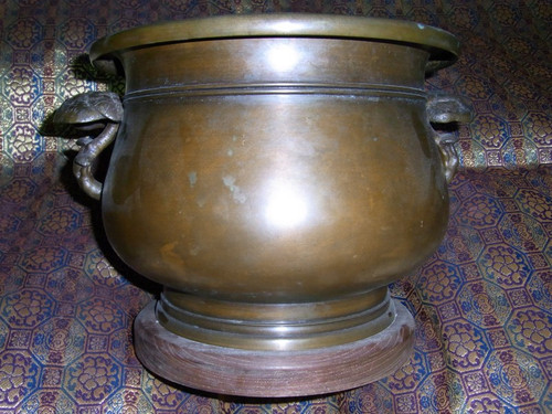 茸耳宣徳火鉢